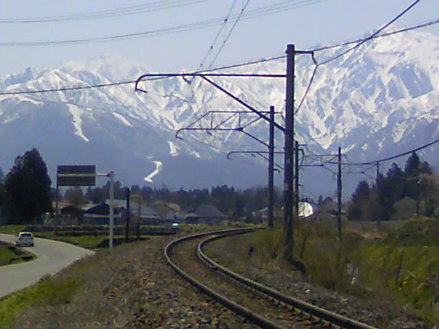JR大糸線と北アルプス