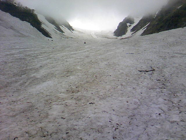 今日の白馬大雪渓