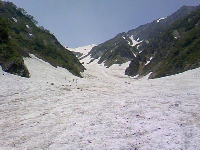 今日の白馬大雪渓3