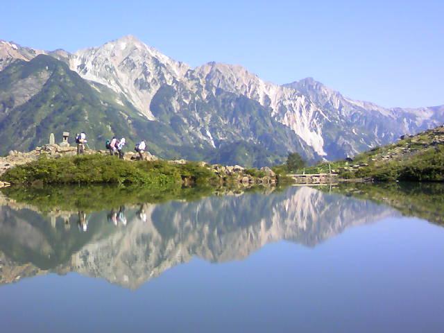 八方池から白馬三山です