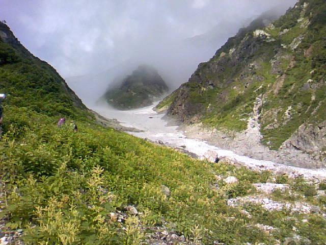昨日の白馬大雪渓
