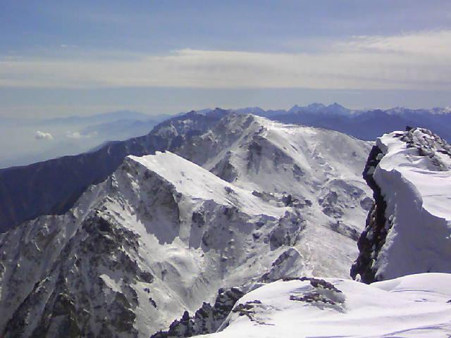 【白馬岳】白馬三山は初冬です。