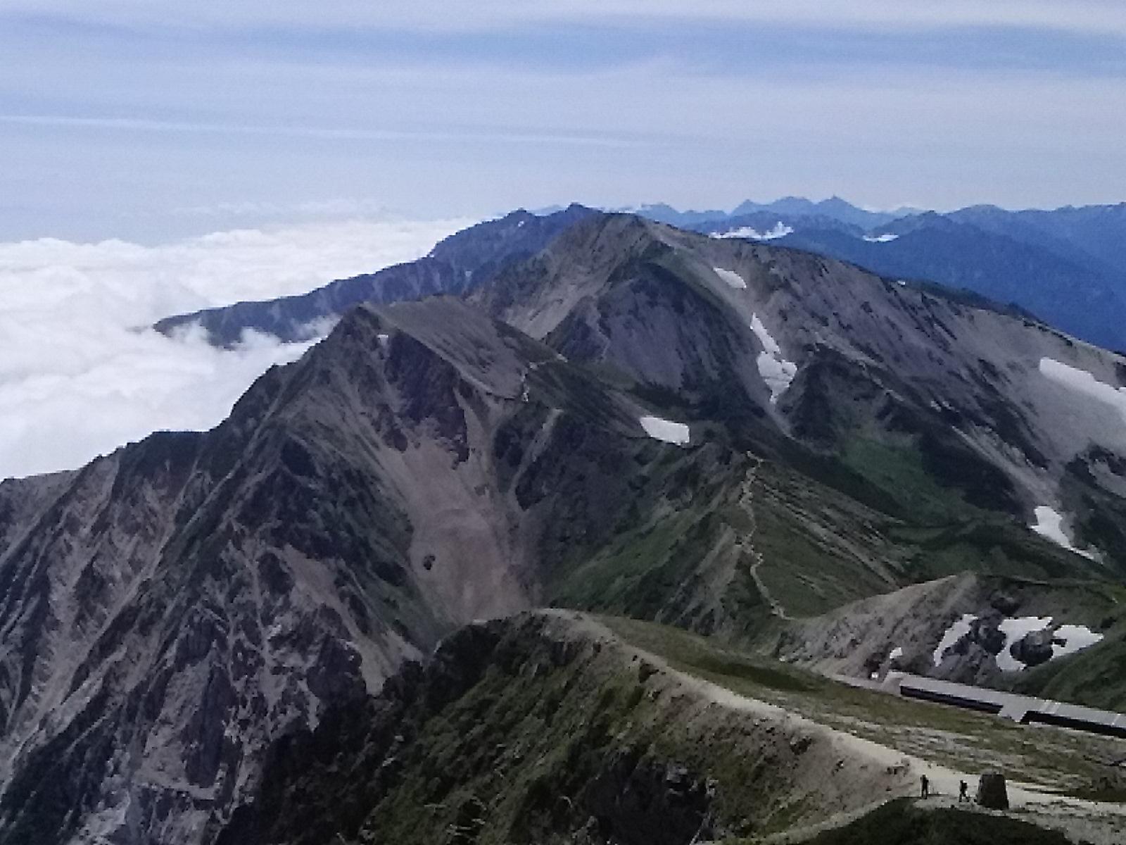 白馬岳の山頂です。