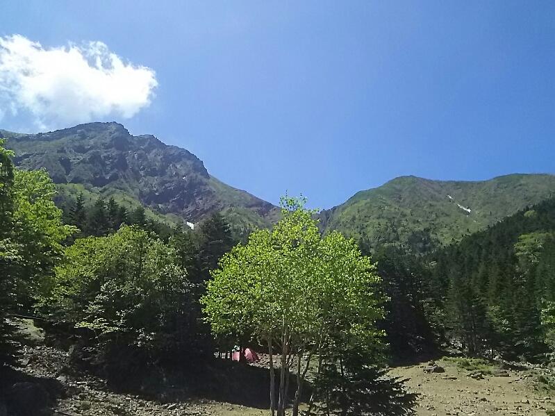 八ヶ岳山中、行者小屋前です。